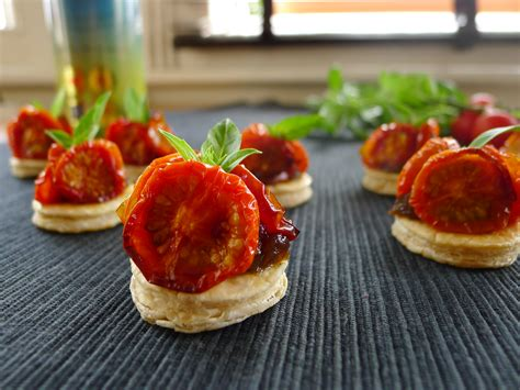 cherry tomato tarte tatin vegan peasant catering