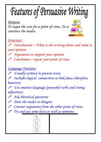 essay structure ks2 features of persuasive writing poster by moshing