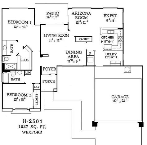 sun city west alpine 93 model floor plan single family floor plans sun city west arizona real