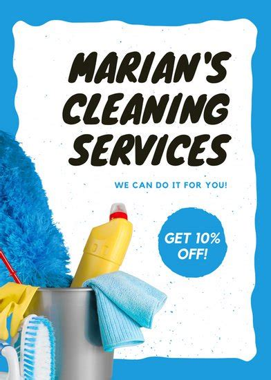 customize  cleaning flyer templates  canva
