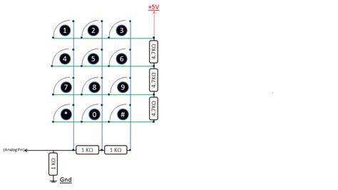 i2c resistor array arduino playground onewirekeypad library