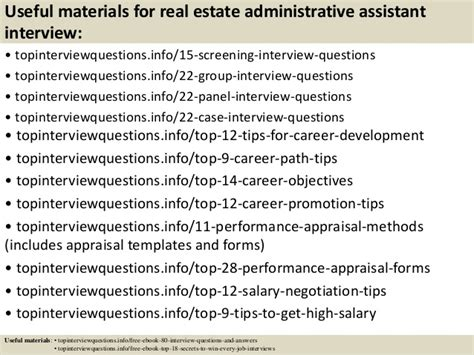 top 10 real estate administrative assistant questions and a
