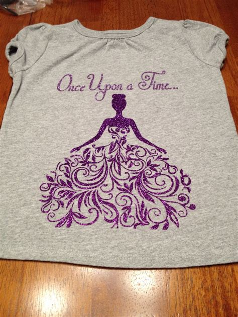 pattern vinyl for shirts heat transfer vinyl quot once upon a time quot with princess shirt