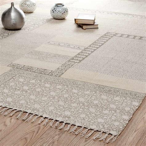 tappeto cotone tappeto beige in cotone a pelo corto 160 x 230 cm menara