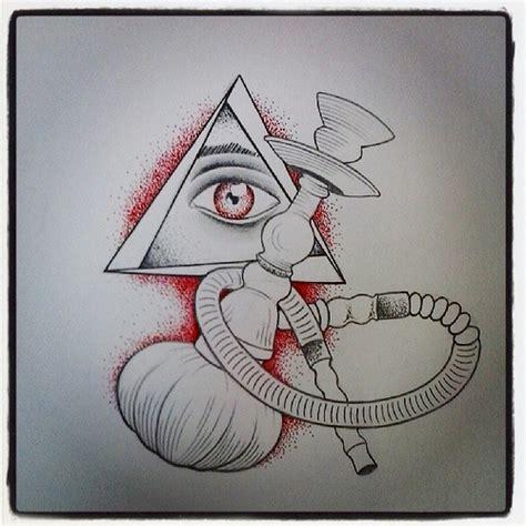 narguile olho dotwork desenho draw tattoo luana