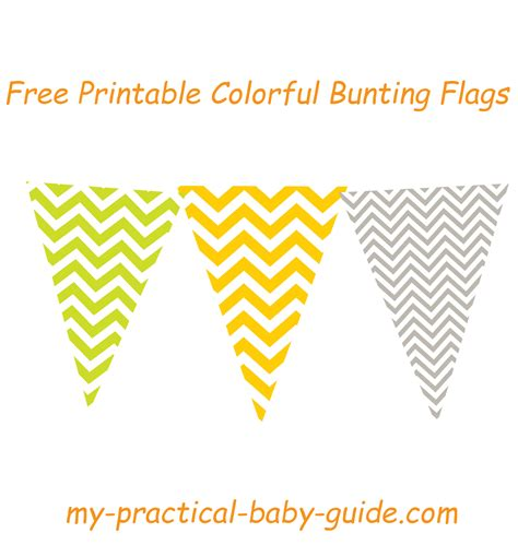 printable bunting flags free free printable colorful chevron bunting flags lime green