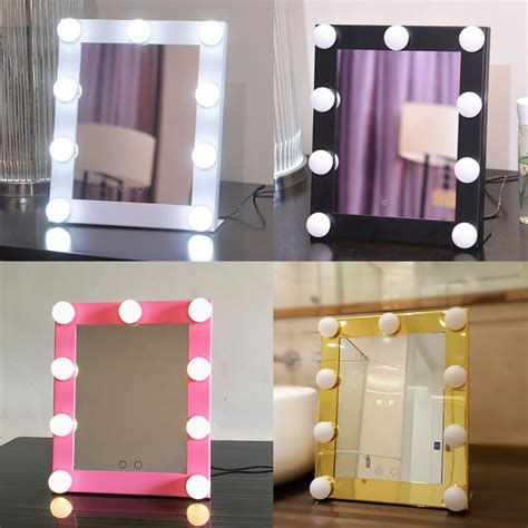 backstage makeup mirror with lights led bulb vanity lighted makeup mirror with