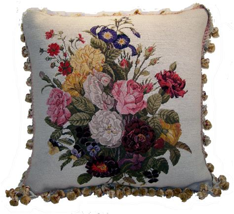 Elegant Vase Needlepoint Pillows