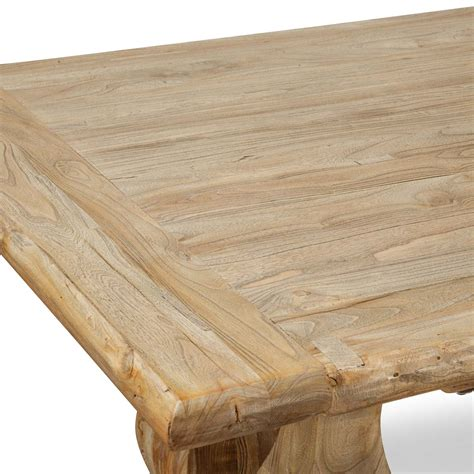 elm wood table artica elm wood dining table 2 4m rustic
