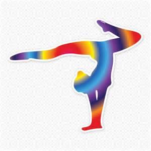 Golf Wall Stickers rainbow gymnast restickable silhouette sticker genius
