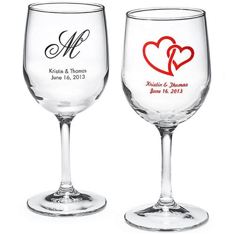 wine wedding personalized wine glass 1182042 weddbook
