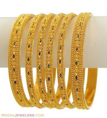 Bangles India Size L 24 indian meenakari bangles set bast8644 22kt gold