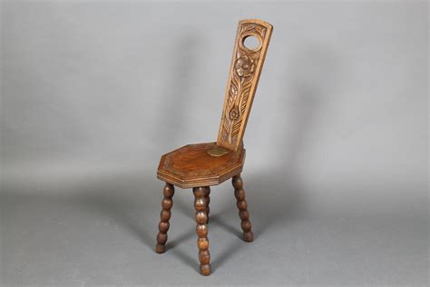Spinning In A Chair by Lot No 1007 A Carved Oak Spinning Chair The