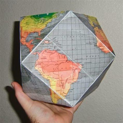Papercraft Globe - buckminister fuller dymaxion globe papercraft