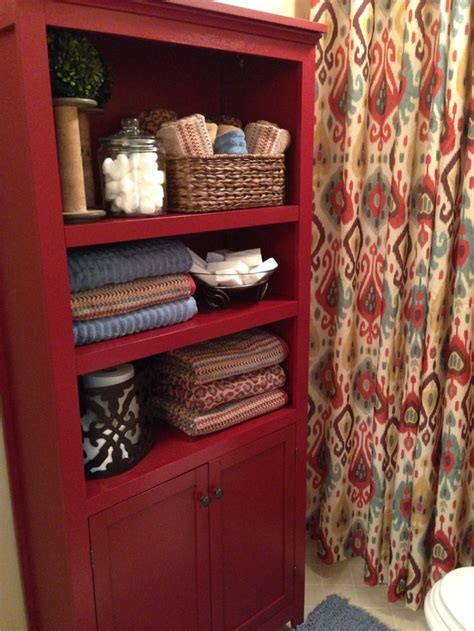 Tj Maxx Bathroom Accessories Small Bathroom Decorations Ikat Curtains From Pier 1 Used As Shower Curtain Shelving Unit