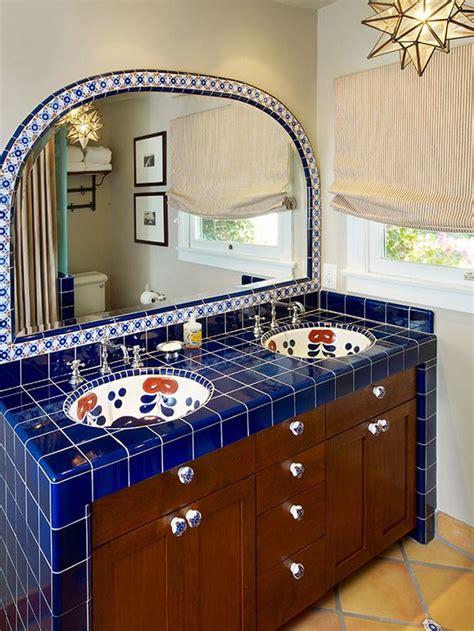 mexican tile bathroom ideas 35 cobalt blue bathroom tile ideas and pictures