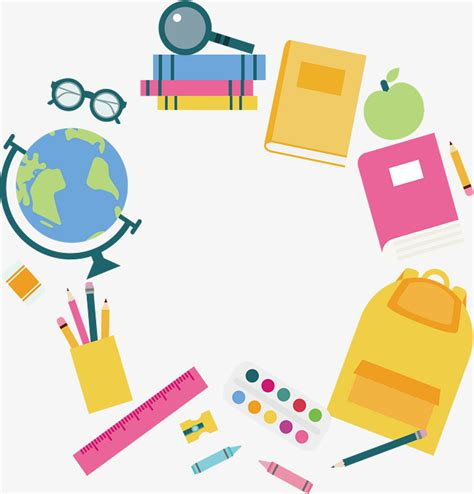 education primaria stationery border border vector vector png education