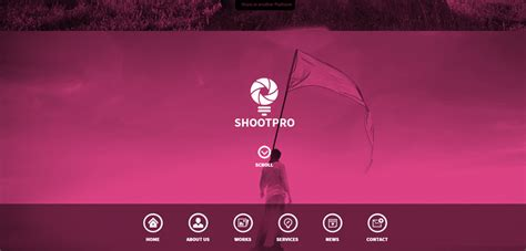 welcome page templates shootpro premium one page muse template