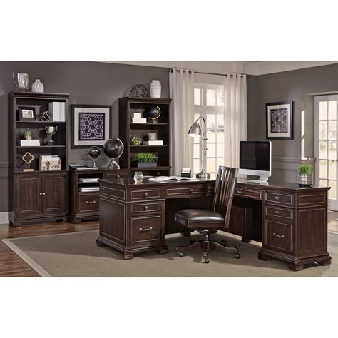 desk l with outlet aspenhome weston l shaped desk with built in outlets