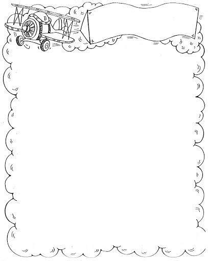 imagenes para hojas blancas marcos y bordes infantiles para colorear dibujos para