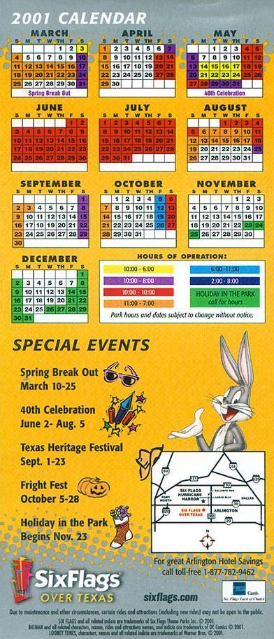 theme park brochures flags texas theme park