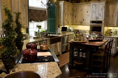 french country kitchen with antique island cabinets decor french country kitchens photo gallery and design ideas