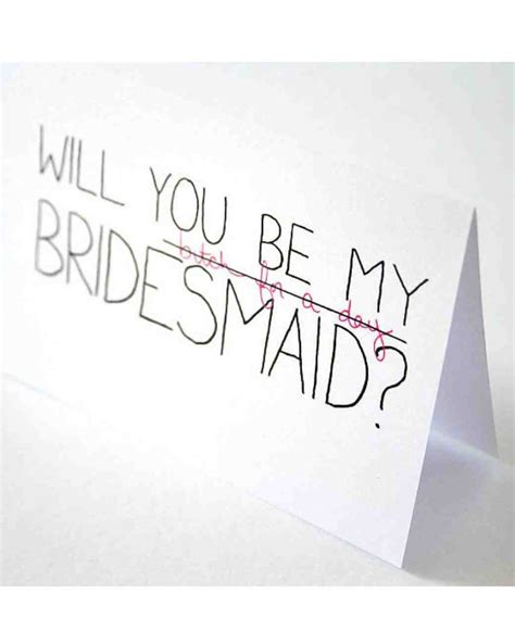 12 Quot Will You Be My Bridesmaid Quot Cards We Love Martha Stewart Weddings Will You Be My Bridesmaid Template