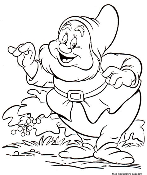 printable 7 seven dwarfs sneezy coloring pages free