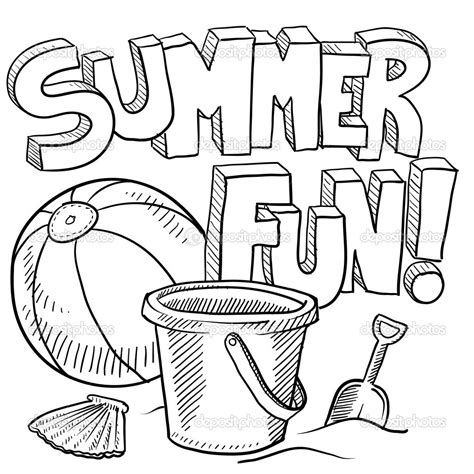 summer coloring pages for adults free large images
