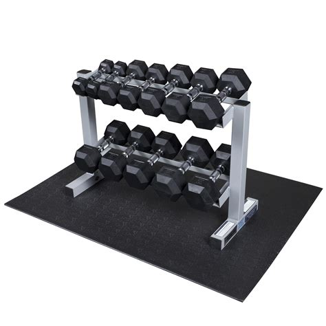 Solid Dumbbell Rack by Solid Dumbbell Rack With Rubber Dumbbells Shop Your