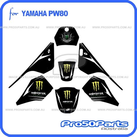 Sticker Yamaha Pw 80 by Yamaha Pw80 Sticker Decal Graphics Monster Energy