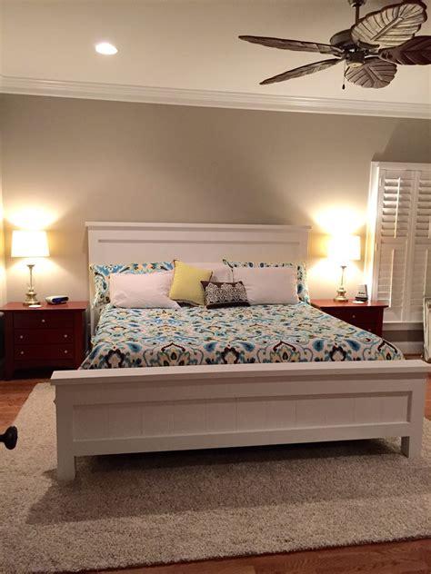 farmhouse king bed ana white