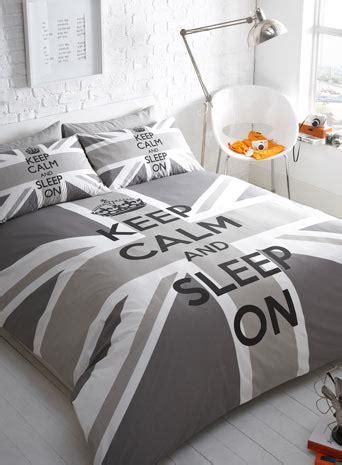163 30 00 Love This Grey Keep Calm Union Jack Bedding Set Union Bed Set