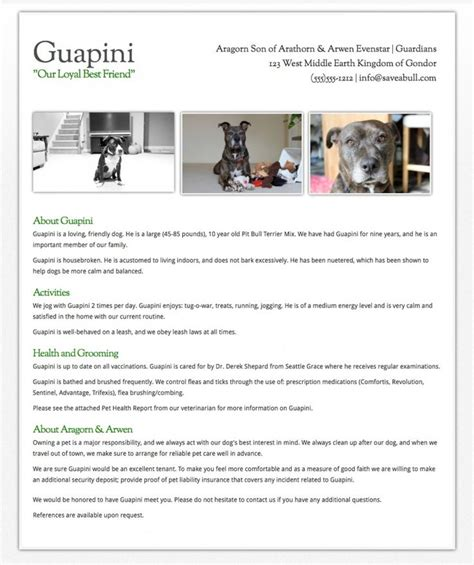 creating  dog resume  tips  renters  dogs