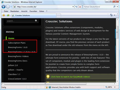 tutorial breezingforms joomla breezingforms teil 1 joomla cms tutorials de
