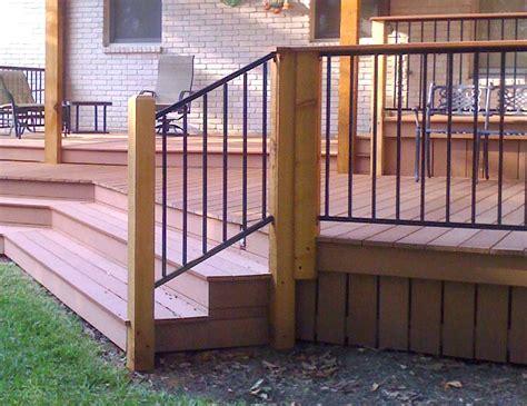 diy railing diy metal deck railing jbeedesigns outdoor best metal