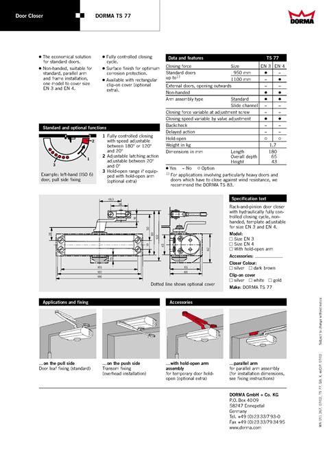 Dorma Door Closer Ts 77 door closer dorma tipe ts 77 supplier material konstruksi