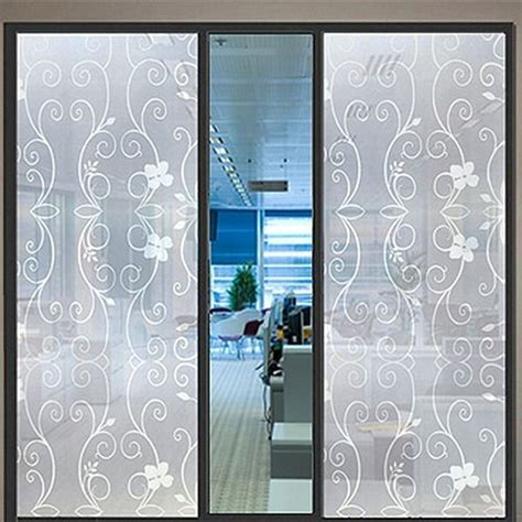 Adhesive For Glass Shower Doors - pvc frosted sticker glass cover self adhesive