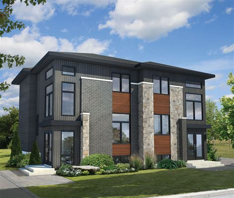 architectural home designs multi family modern 80781pm architectural designs house plans