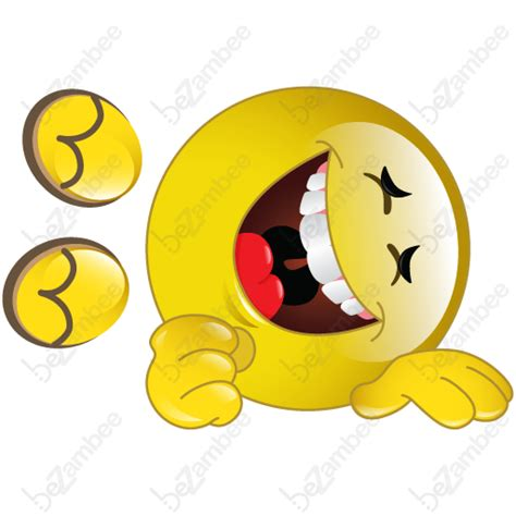 smiley rolling on floor laughing emoticon car interior