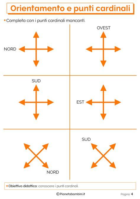 test di orientamento orientamento e punti cardinali schede didattiche per la