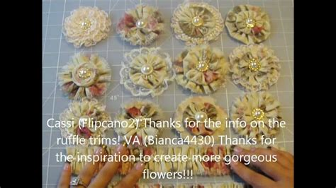 Upholstery Youtube Hand Made Vintage Victorian Fabric Flowers And