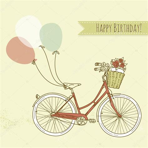 Bicycle Birthday Card Template by Plus