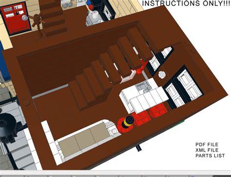 lego modular tutorial purchase custom lego instructions canal street houses
