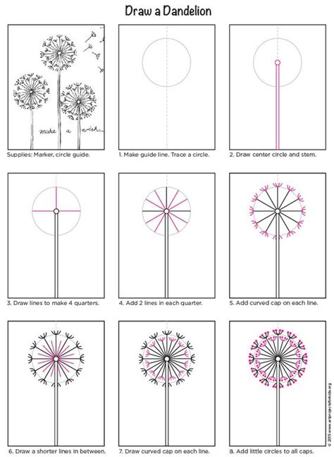 c tutorial in pdf how to draw a dandelion pdf tutorial art projects for