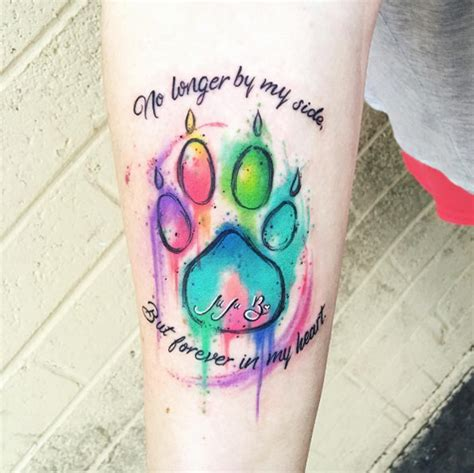 32 perfect paw print tattoos to immortalize your furry