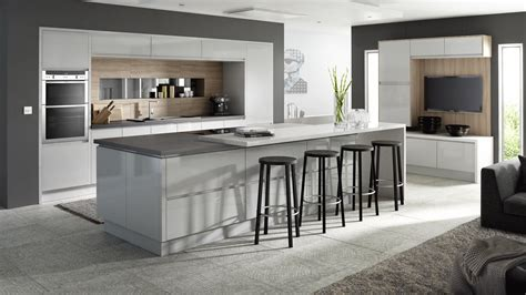 Grey Kitchens Best Designs In Line Gloss Light Grey Our Kitchens Sheraton Kitchens