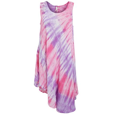 womens tie dye neck midi summer dress ebay