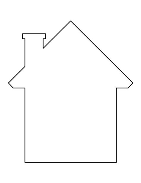 printable house pdf house pattern use the printable outline for crafts