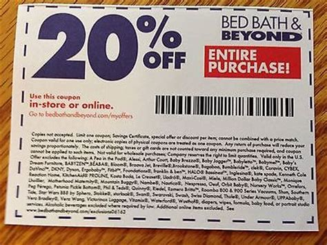 bed bath beyond 20 off entire purchase insrant bed bath and beyond coupon 2017 2018 best cars